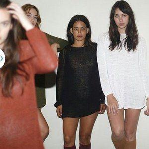 AMERICAN APPAREL Black Delphine Tunic Sweater  M/L